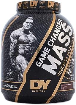 DY Nutrition SHADOWHEY Cambiador de juegos potente ganador de masa por Dorian Yates SHADOWLINE | Sabor de chocolate | 3 kg de tina con 56 g de ...