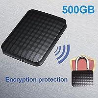 Tiptiper Expansion 500GB Portable USB 3.0 External Hard Drive ABS Black