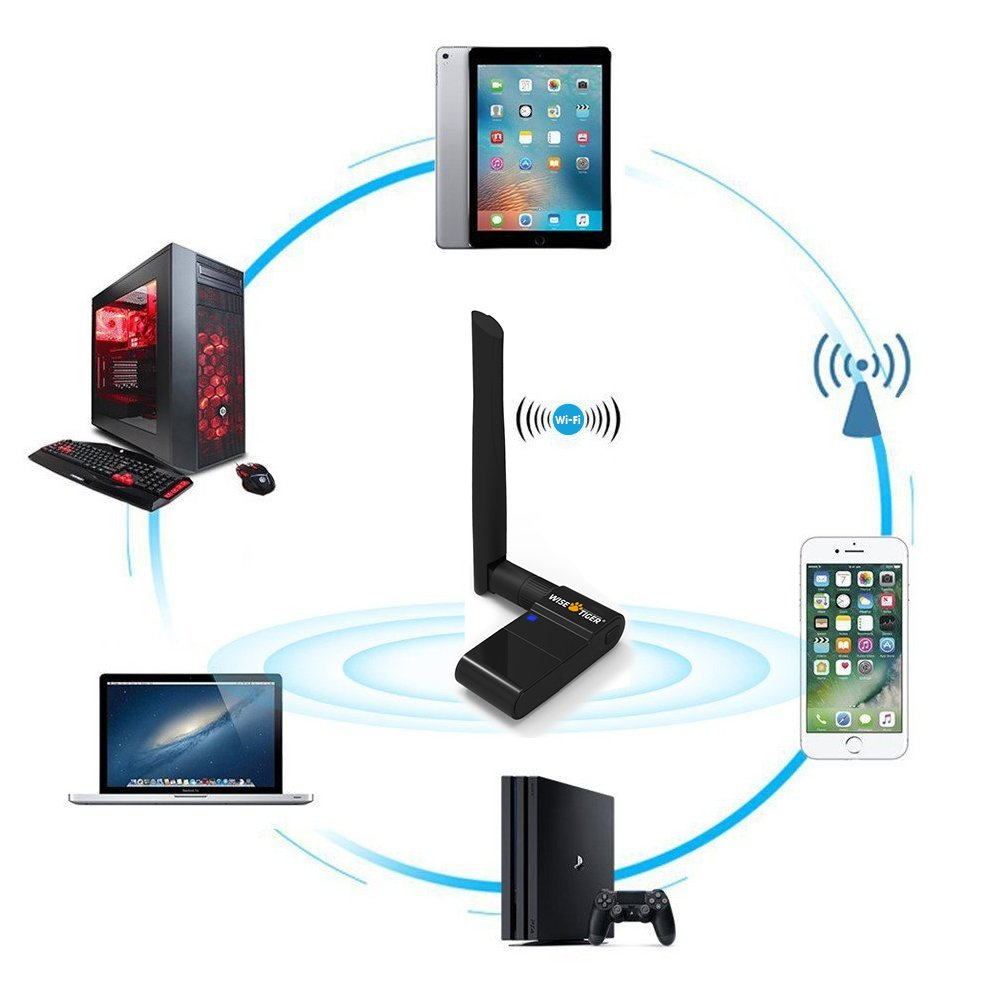USB 3.0 WiFi Adapter AC1300Mbps High Speed 802.11Ac Wireless Network Card Long Rang WiFi Booster Dual Band 5G with Dual Antennas for Desktop//Laptop Install Fast Just 3 Minutes