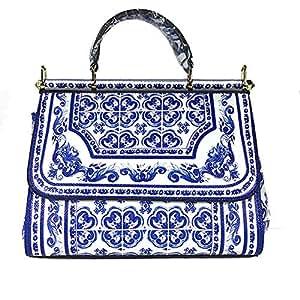 Amazon.com: Nal Sur - Bolso de piel para mujer, diseño de ...