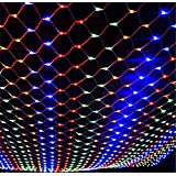 Fairy Lamp, Net Mesh Light 3 * 3M Christmas Net Light Indoor Outdoor Garden String Curtain Wedding Party Gift
