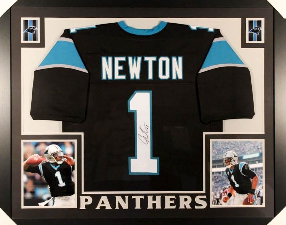 Cam Newton Signed Panthers 35x43 Custom Framed Jersey (JSA COA) NFL MVP  2015 at Amazon s Sports Collectibles Store 4166f1e26