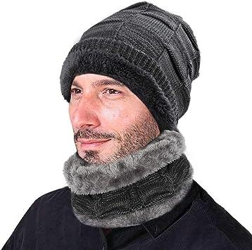 XIAOYAO Gorro Invierno Hombre con Bufanda, Calentar Sombreros ...