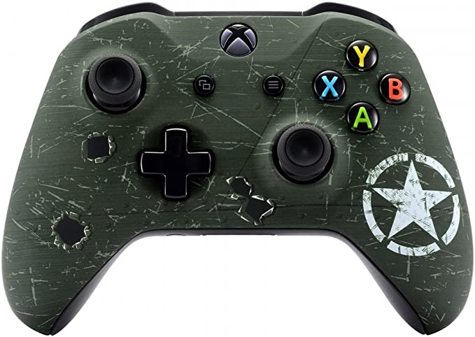 eXtremeRate Carcasa para Xbox One Funda Delantera Carcasa Frontal Kit de reemplazo Tacto Suave Placa Frontal para Mando Controlador de Xbox One X Xbox ...