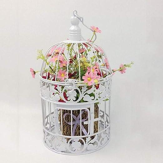 jaula de pájaros, Soporte de Flores de Hierro Forjado, candelabro ...