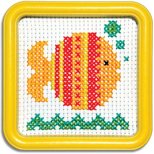 Easystreet Little Folks Gold Fish Counted Cross-Stitch Kit ()