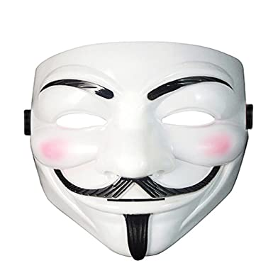 Amazon.com  Diona J V For Vendetta Face Guy Fawkes Anonymous Mask Halloween  Cosplay Costume White  Clothing 0a54313b832d