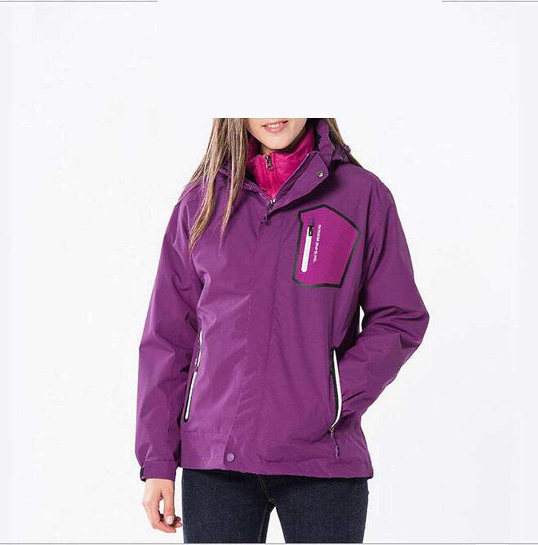 Jacken Outdoor Ski Sportswear 3 In 1, Winter Duck Tank Waterproof Warm Mountaineering, Damen, Lila