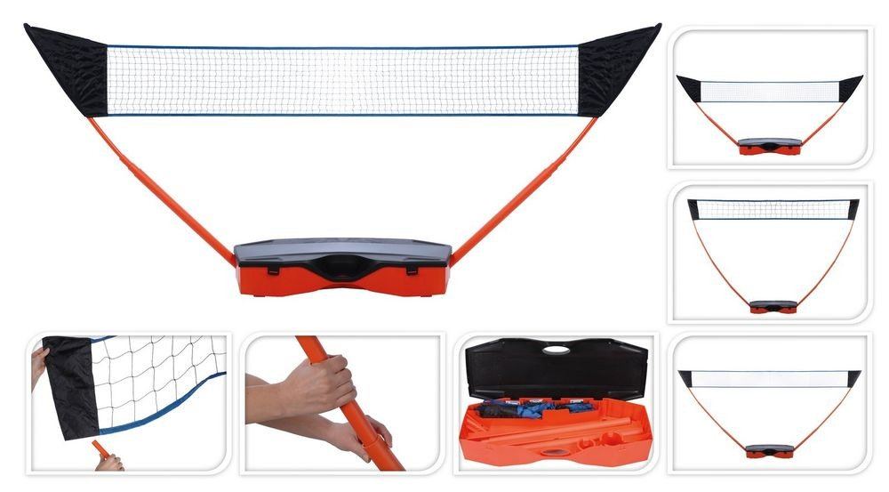 Multi Sports Portable Pop Up Post Net Garden Set - 3 Nets for Volleyball, Tennis, Badminton XQ Max KOO500000