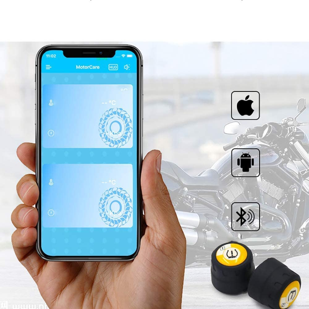 Tire Pressure Monitoring System External Voice Alarm Mobile Phone Large Screen Smart Machine Bluetooth 4.0 SPRIS Motorcycle Tire Pressure Monitoring Tpms for Various Models
