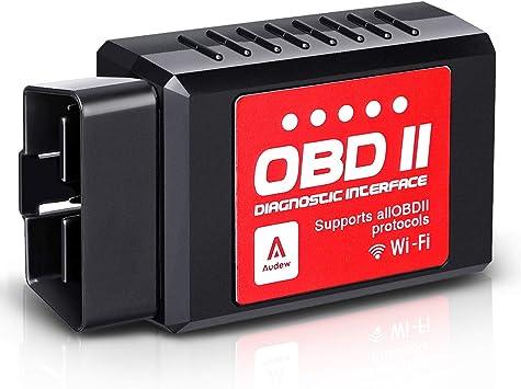 Android y dispositivos Windows cuenta con una base de datos de 3000 c/ódigos La Herramienta de Escaneo OBD  con Lector de C/ódigos OBD2 Inal/ámbrico para Coches se conecta a trav/és de WiFi con IOS
