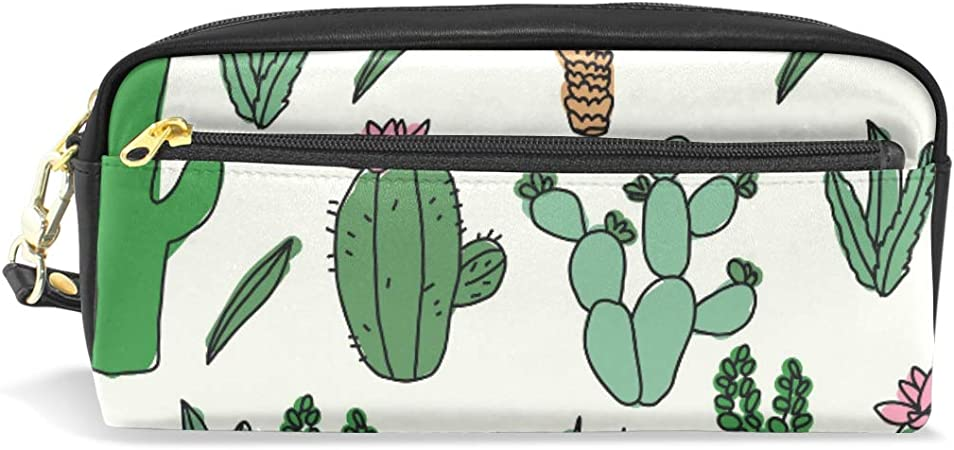 Cactus Doodles - Estuche organizador para lápices y bolígrafos, diseño de cactus: Amazon.es: Oficina y papelería