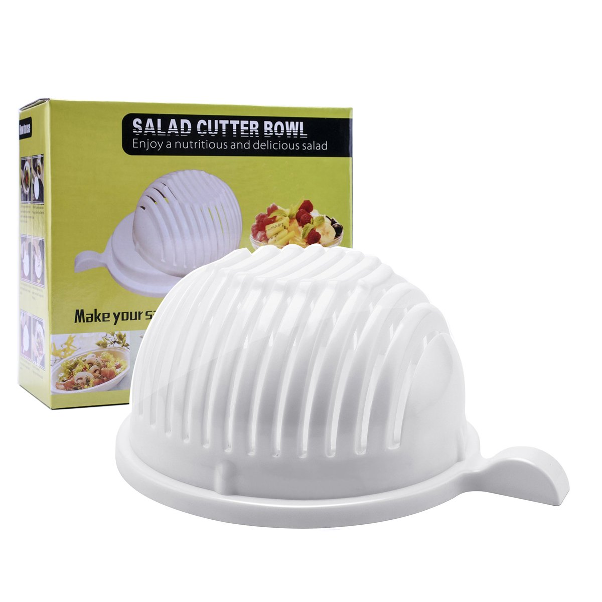 Amazon.com | Salad Cutter Bowl, CFTech Salad Spinner Chopper Fruit ...