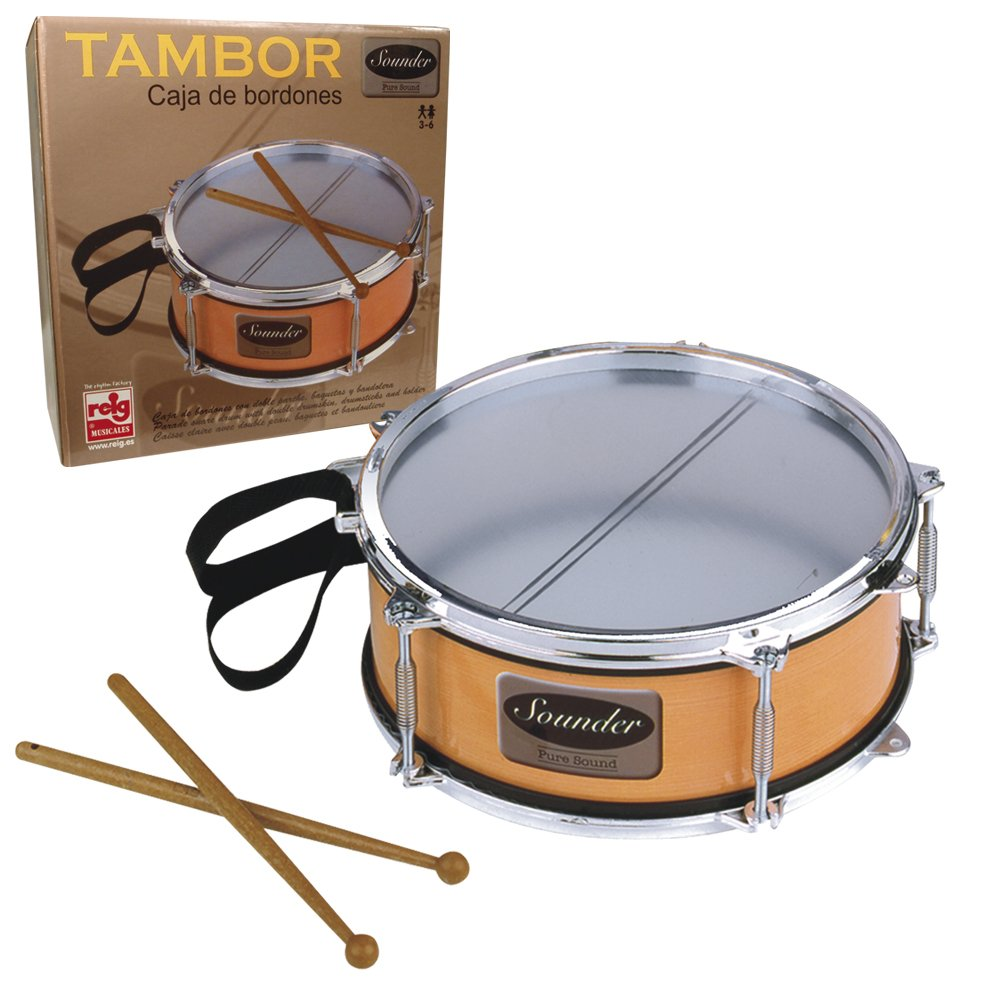 The Sales Partnership Reig Snare Drum with Drumsticks and Strap by The Sales Partnership