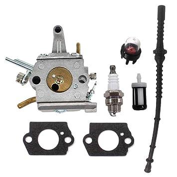 AISEN Carburador con manguera de gasolina para Stihl FS400 FS450 ...