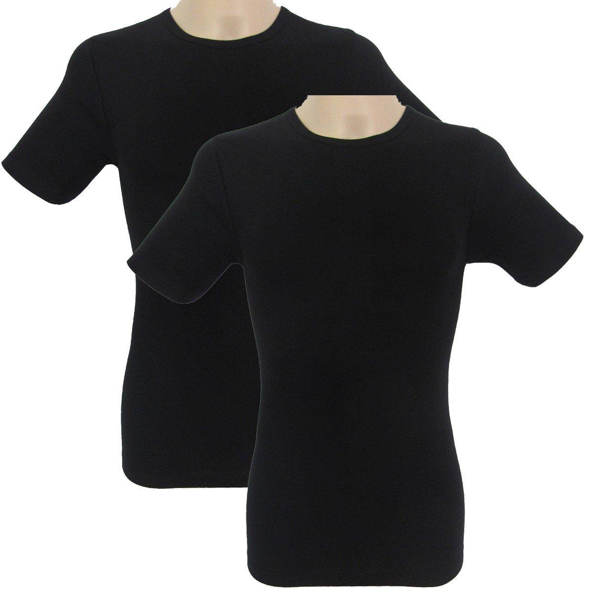 made of 100/% cotton HERMKO 3840-2 mens short-sleeve undershirt with crew neckline