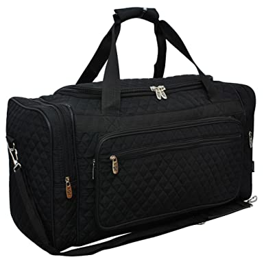 f8fb6377a4 Image Unavailable. Image not available for. Color  Solid NGIL Quilted Carry  on Shoulder 23 quot  Duffle Bag