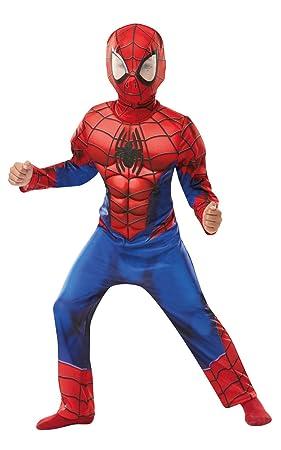 Rubies 640841S SPIDERMAN Marvel - Disfraz infantil de Spider-Man de lujo, para niños, talla pequeña