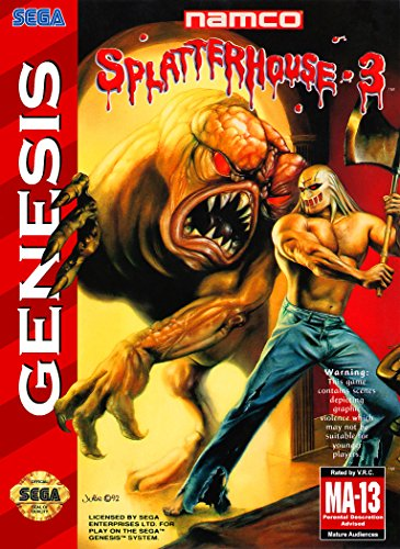 Splatterhouse 3 (Sega Genesis / Megadrive) - Reproduction Cartridge with Clamshell Case and Manual