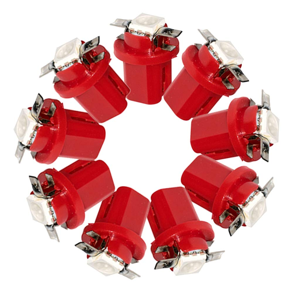 lampada aria condizionata HopeU5/® 10 x Car T5 B8.5D 5050 1 SMD Blue C5W Lato interno LED Lampadina lampada per luce strumento indicatore luce laterale