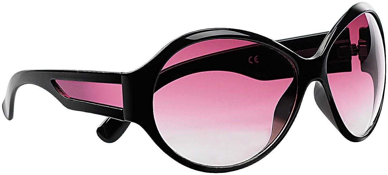 PEARL Butterfly-Sonnenbrille mit roten Gläsern, schwarz