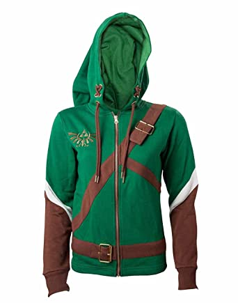 The Legend of Zelda Ladies Hooded Sweater Link Cosplay Size XL Bioworld Merchandising Sweaters