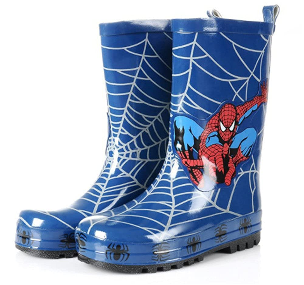 Spider-Man Boy Kids Wellington Boots Wellies Rain Boot (Toddler/Little Kid) Blue