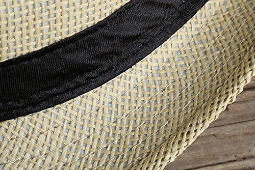 fcd241bfb9e22 Leisial Sombrero de Jazz Playa Paja Panama Estilo Británico Deporte al Aire  Libre Gorro del Sol Sombrero Modelos de Pareja para Hombre Mujer   Amazon.es  ...