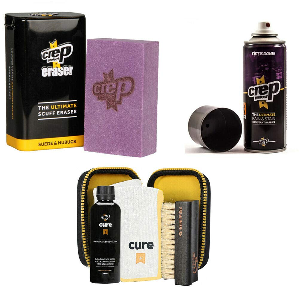Crep Protect Suede and Nubuck Shoe Care Kit Includes The Crep Protect Rain'' Sta by quickly store