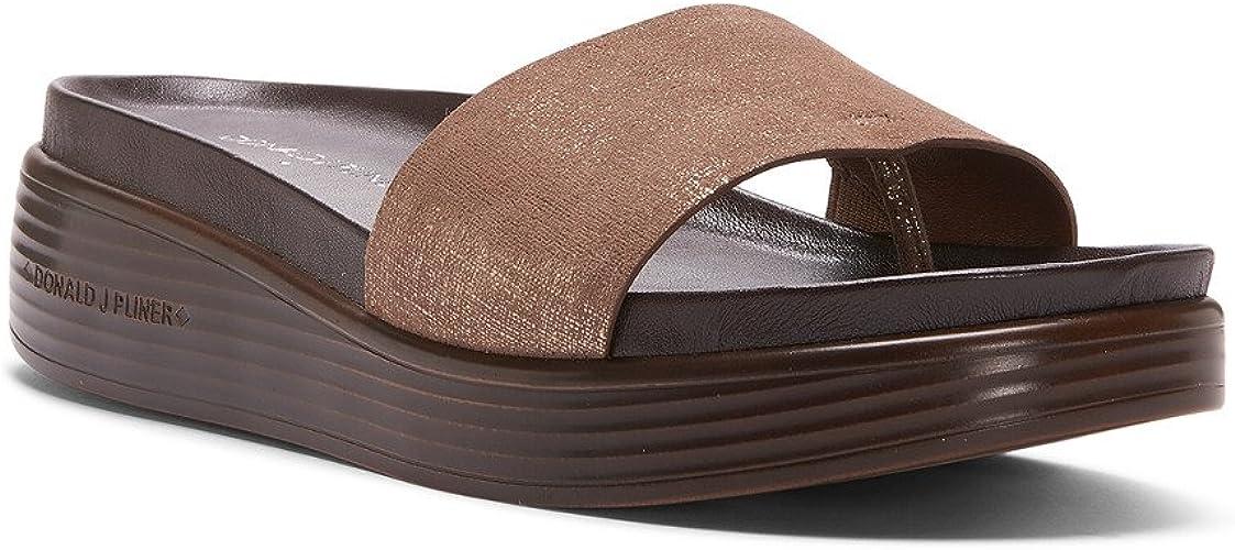 Fiji Distressed Metallic Slide Sandal
