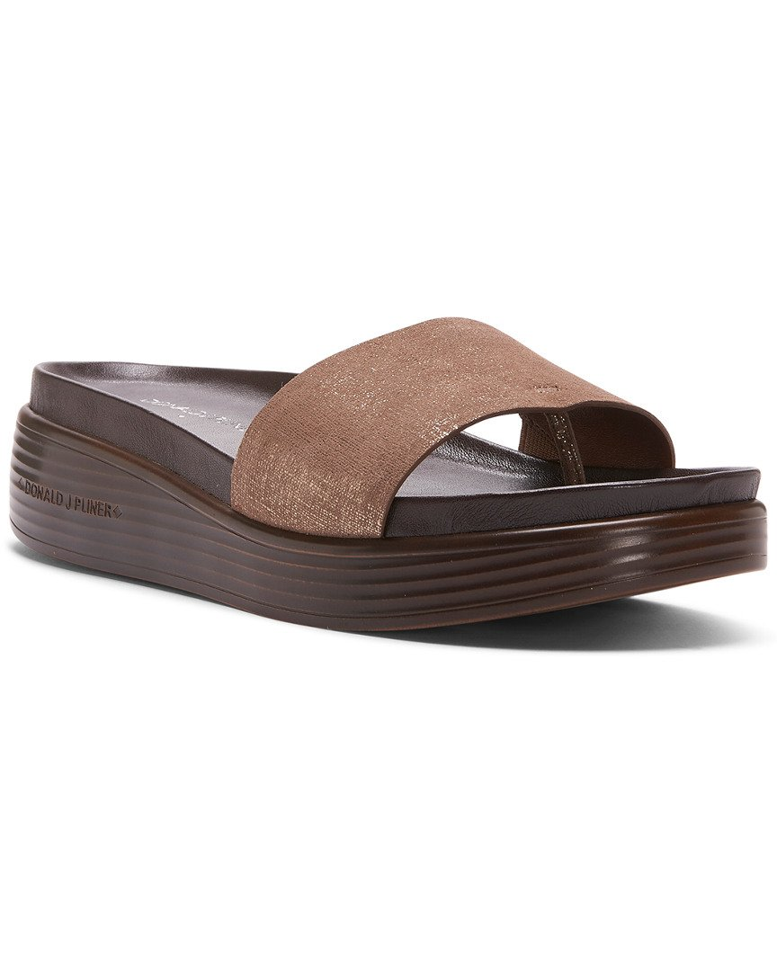 Donald J Pliner Women's Fiji Distressed Metallic Slide Sandal, Bronze, Sz- 6b / 36eu
