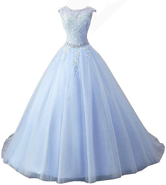 OkayBridal Women\'s Sleeveless Dress Lace s Ball Gown Long Prom Dress Plus  Size
