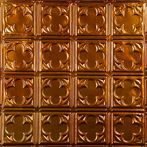 """American Tin Ceilings Nail Up Kit, Pattern #35, 5 Pack (24"""" x 24"""", Rustic Copper)"""