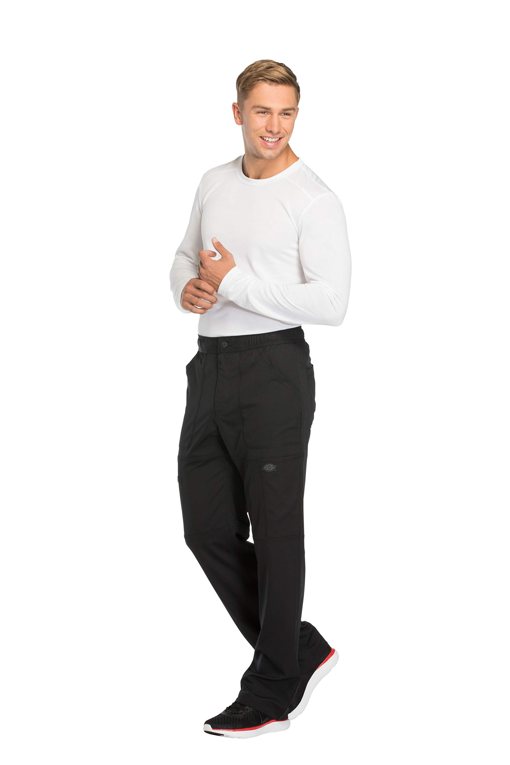 Dynamix Men's DK110 Natural Rise Zip Fly Cargo Pant- Black- Medium