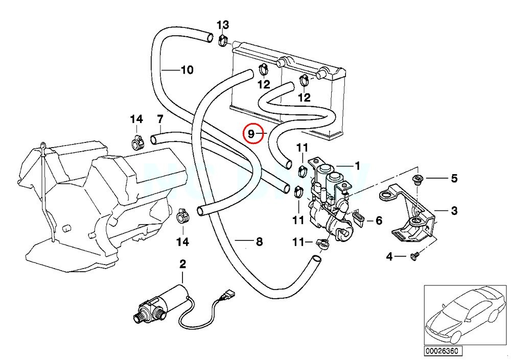 Amazon Com Bmw Genuine Hose F Water Valve And Left Radiator Automotive