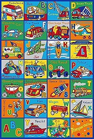 Kids Rug ABC Transportation Area Rug 5  x 7  Educational Children Area Rug  for. Amazon com  Kids Rug ABC Transportation Area Rug 5  x 7