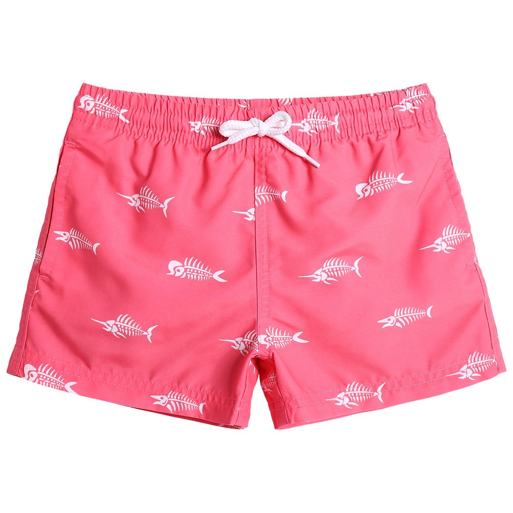 9a190bed98 95% Polyester 5% Spandex. 2-Way Stretch. (Soft and with little elastic) Imported  Little Boy Swim Trunks: This Funny Monster Pattern Boardshort Get 6 Size