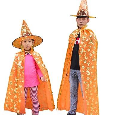 LBHHH Capa Infantil de Halloween, Capa de Brujo Brujo, Capa ...