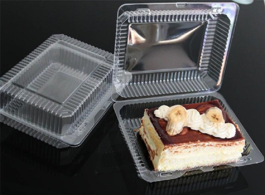 5-300 Plastic Disposable Clear Boxes for Food, Cake Size - 195 x 140 x64mm (k47) (10) Cake Boxes