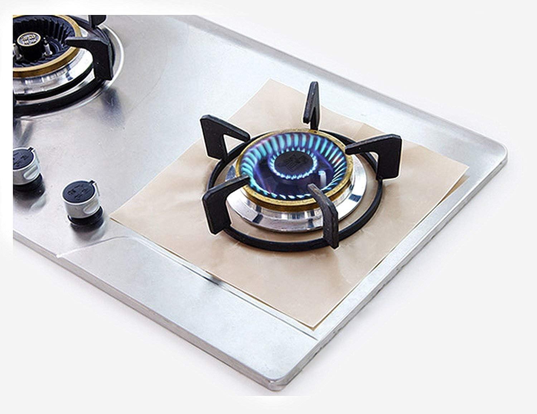 JJMG New Black Stove Top Burner Protectors Reusable Non-Stick Stove Top Liners Washable Dishwasher Safe
