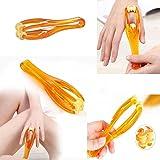 Kasmena 2Pcs Hand Handheld Finger Roller Massager