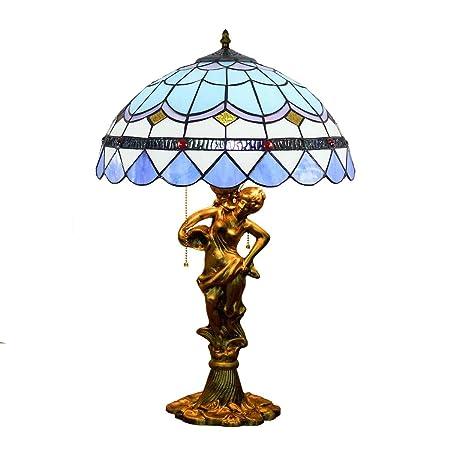 Lámpara De Mesa Estilo Tiffany, Lámpara De Cabecera Con Pantalla ...