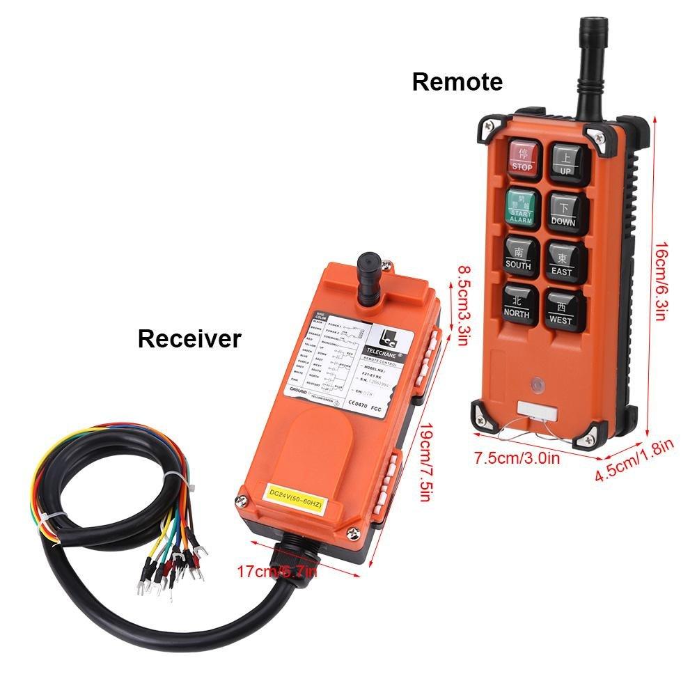 Receptor y Transmisor Akozon 24VDC Sistemas de control remoto de Radio de Velocidad