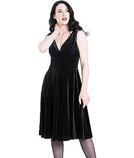 HELL BUNNY MELINA VELVET XMAS christmas party BLACK RED DRESS XS-4XL