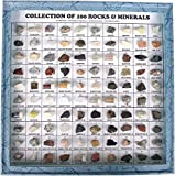 100 Rare Rocks & Minerals Collection Kit in Glass Front Showcase inBest Quality Original Item of Brand BEXCO DHL Expedited Shipping