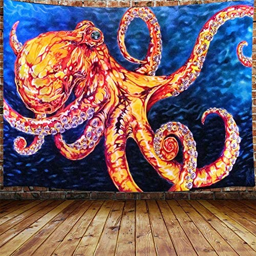 US Ship Octopus Print Tapestry Room Wall Hanging Psychedelic Blankets Home Decor