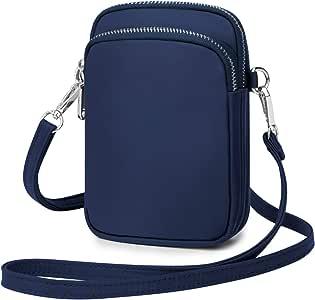 Wind Took Mini Bolso de Teléfono Bolsos Bandolera Mujer Bolso Pequeño Mujer y Hombre Celular Cruzado Bolsa de Tarjeta Bancaria Crossbody Phone 11x 5 x 17cm Azul