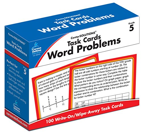 Task Cards: Word Problems, Grade 5