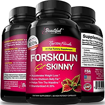 Forskolin for Weight Loss 100% Pure Extract (10X Trim & Slim Results) All Natural Appetite Suppressant Diet Pills that Work Fast for Women & Men. Best Carb Blocker Supplement - 500mg - Made in the USA