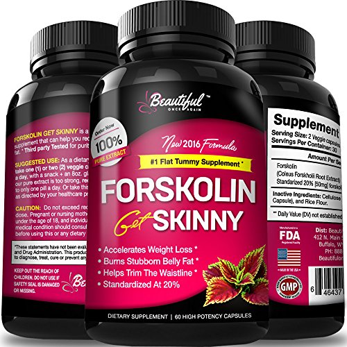 La forskoline para bajar de peso | Extracto puro 100% | #1 el vientre Fat Burner (10 x pastillas para adelgazar barriga plana Slim & Trim) píldoras de suplemento de pérdida de peso Natural todos para mujeres y hombres - por bella una vez más